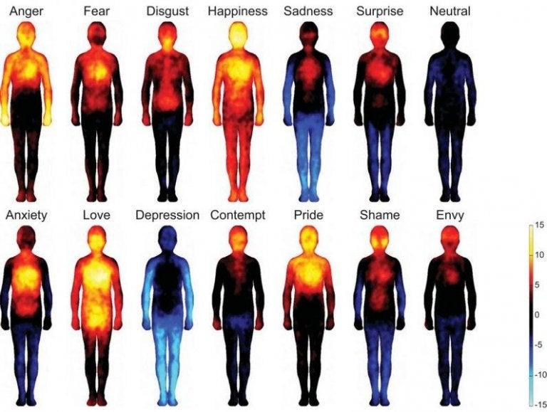 O mapa das emoções humanas