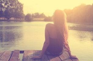 mulher relaxando