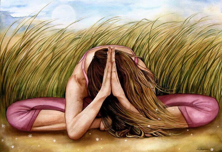 Mulher meditando depois dos 40