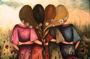 Mulheres representando os amigos que nos curam