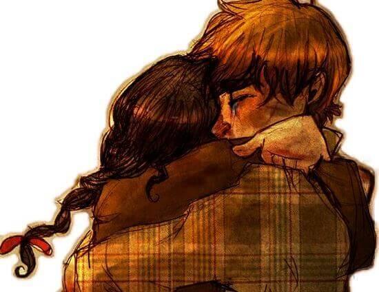O abraço afasta os medos