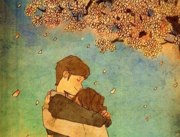 O mais bonito do mundo é abraçar as pessoas que você gosta
