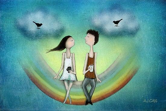 Apaixonar-se é amar as coincidências, e amar é se apaixonar pelas diferenças