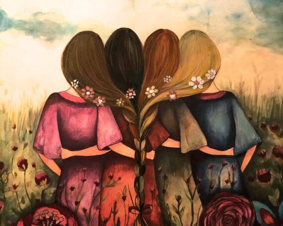 Irmãs abraçadas tornam a vida mais bonita