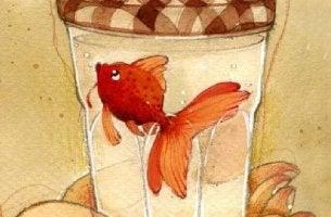 Peixe preso representando o que o afasta de si mesmo