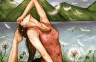 Mulher com suas feridas emocionais