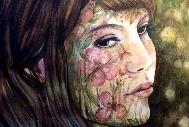 mulher-com-desenhos-no-rosto