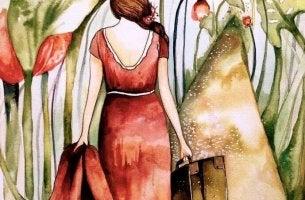 Mulher percorrendo o seu caminho