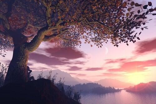 sonhar-com-paisagem-ao-entardecer