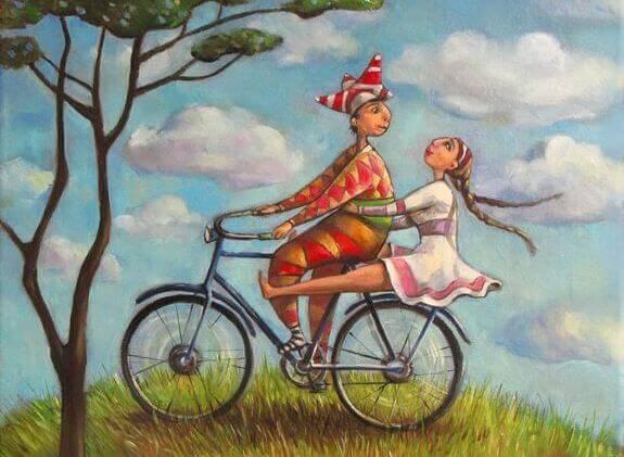 casal de bicicleta aproveitando a melhor idade
