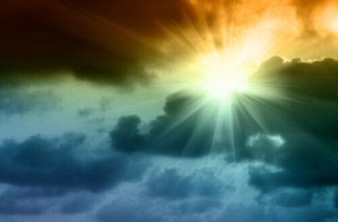 O sol brilha após a tempestade