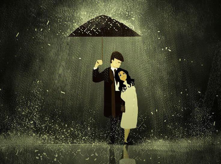 Casal: pessoas que oferecem luz