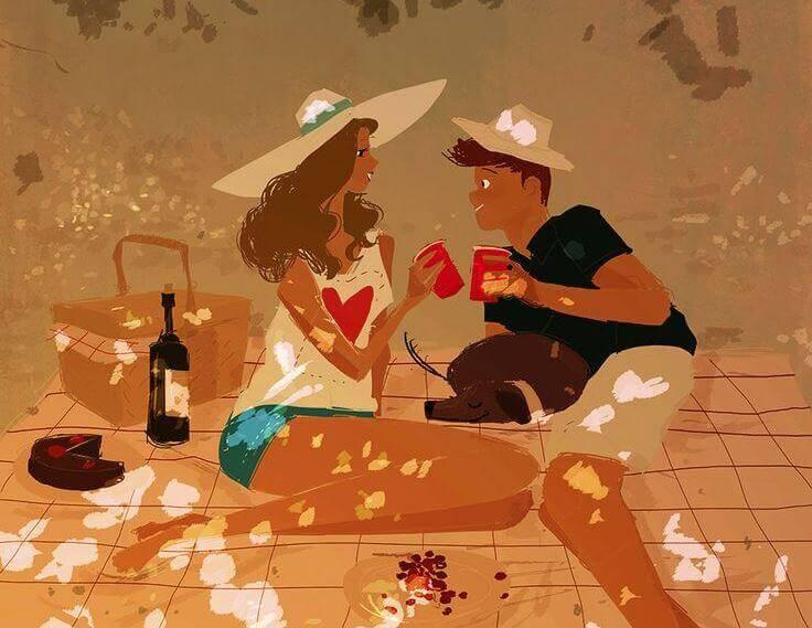 Casal curtindo a vida junto
