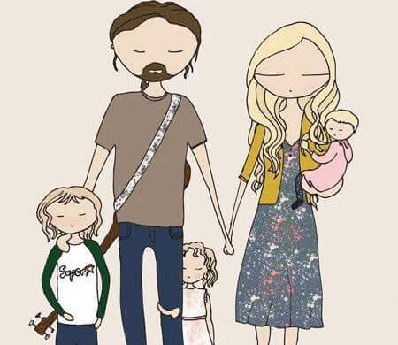 Família com filhos