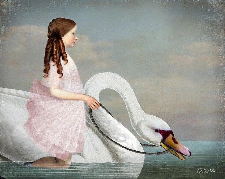 Menina com cisne