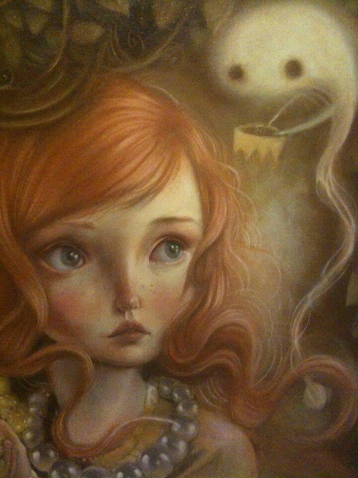 Menina com medo de um fantasma