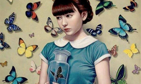 Menina-rodeada-de-borboletas