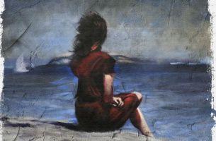 Moça olhando o mar