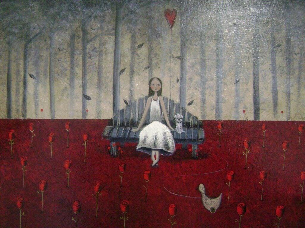 mulher-sentada-com-rosas