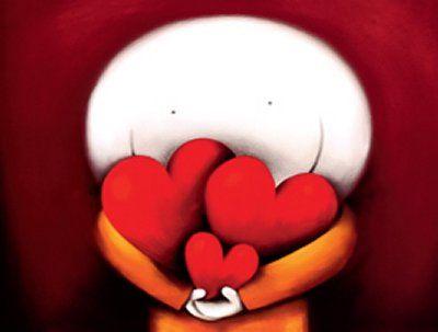 boneco com três corações