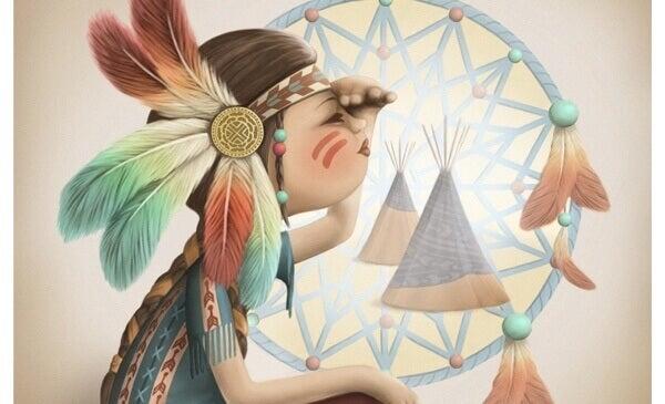 mulher-indigena-pensando