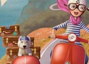 mulher-viajando-com-cachorro