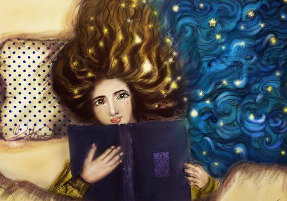 Menina apaixonada pelos livros