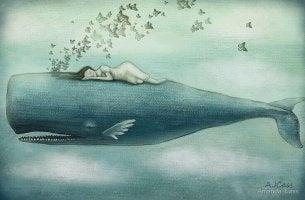 Baleias nadando em nossas lágrimas