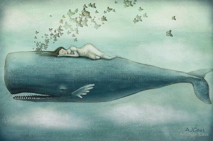 Às vezes choramos tantas lágrimas que nelas poderiam nadar baleias