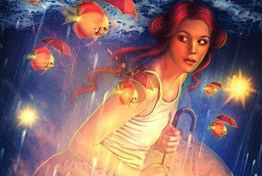 mulher-com-peixes-fugindo-das-criticas