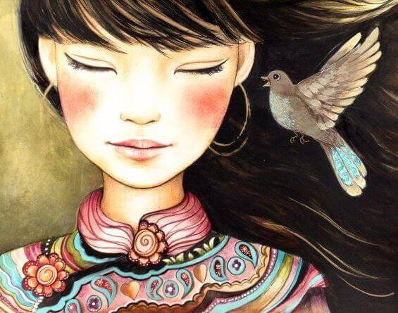 mulher-pombo-contando-uma-mentira