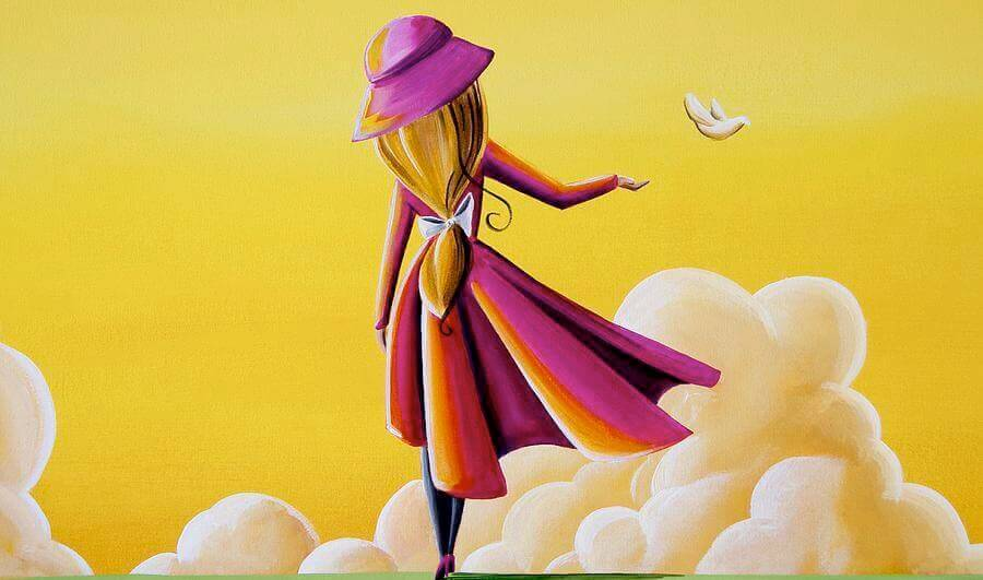 mulher-nas-nuvens-aprendendo-a-deixar-ir