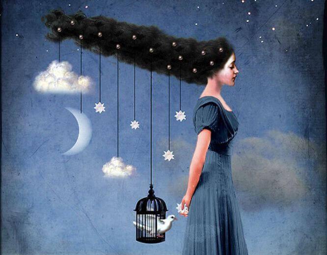 mulher-com-lua-e-nuvens
