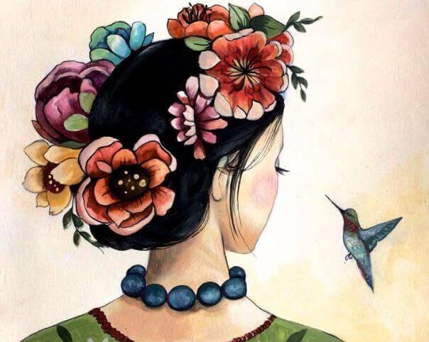 mulher-com-beija-flor
