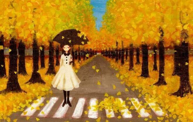 mulher-triste-no-outono
