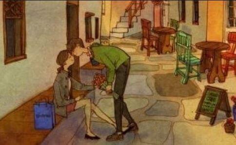 Casal se beijando na rua