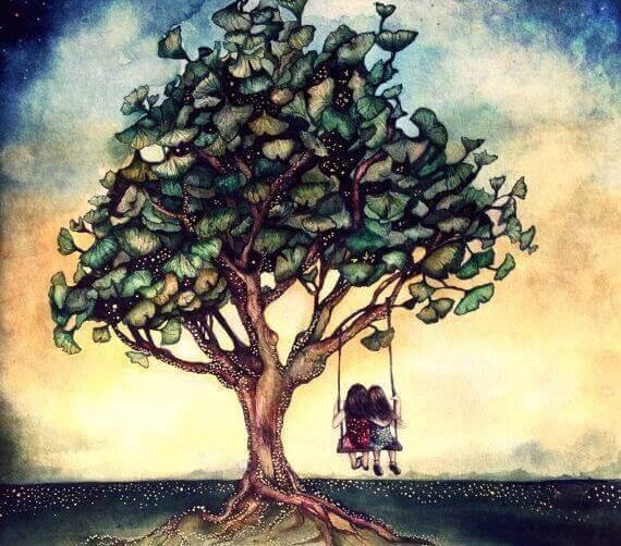 Amigos na árvore