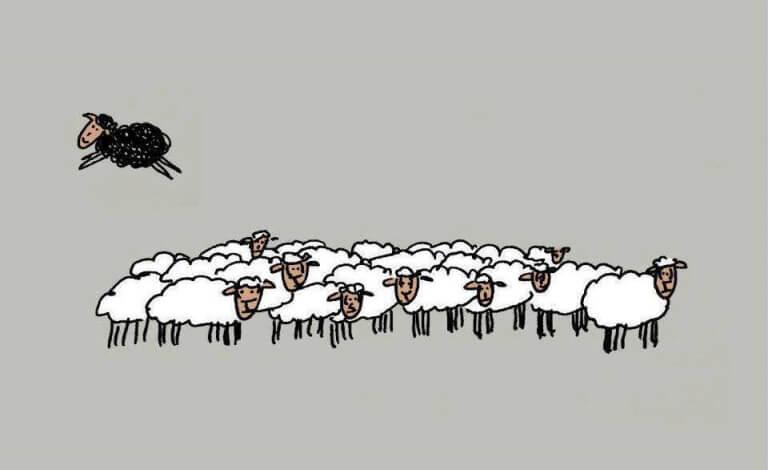 A ovelha negra não é má:  só é diferente