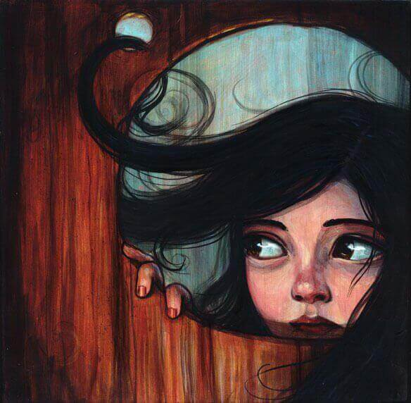 Olhando atrás da porta