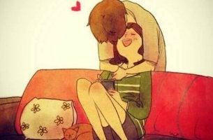 Abraços carinhosos