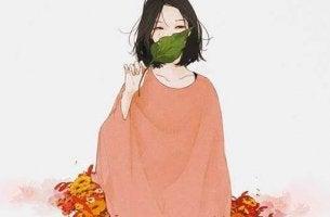 Mulher com sensibilidade elevada