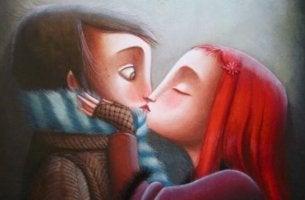 Casal envolvido pelo amor