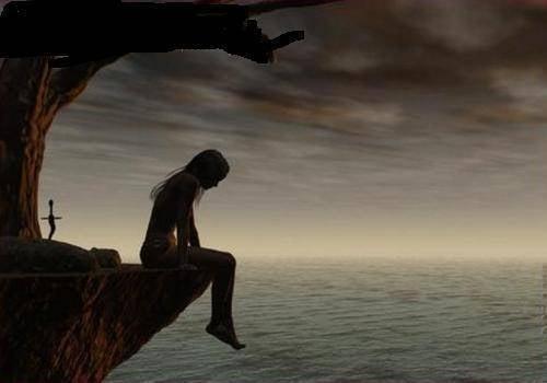 mulher-triste-mar