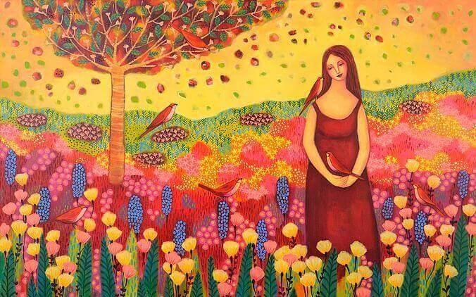 mulher-em-campo-de-flores