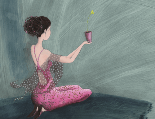mulher-cultivando-flor