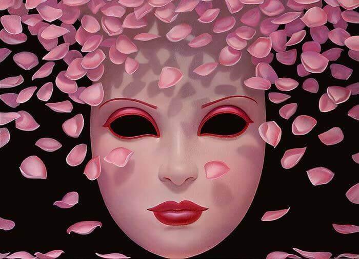 máscara-com-petalas