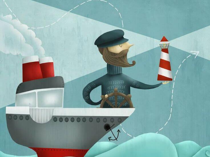 marinheiro em seu barco