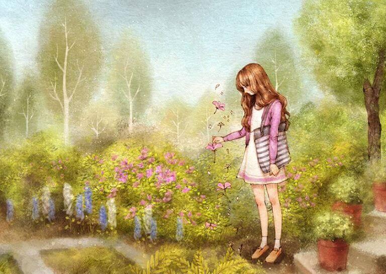 menina-jardim