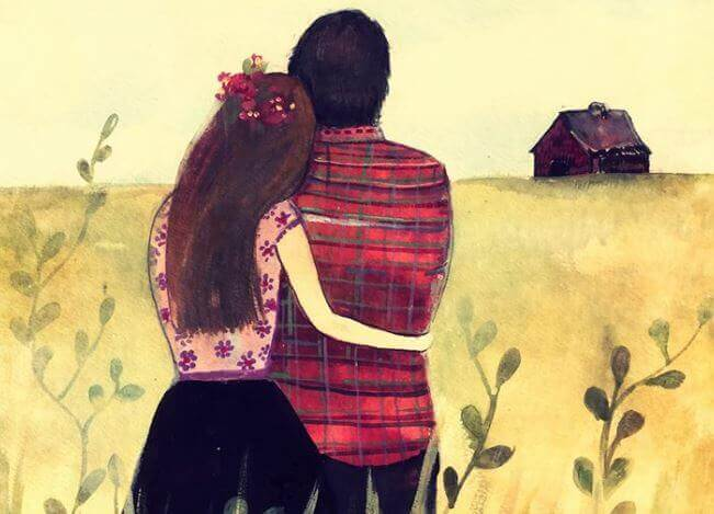 Casal junto depois de tanto tempo