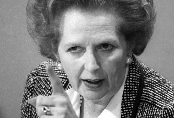 Margaret Tatcher é lider autocrático